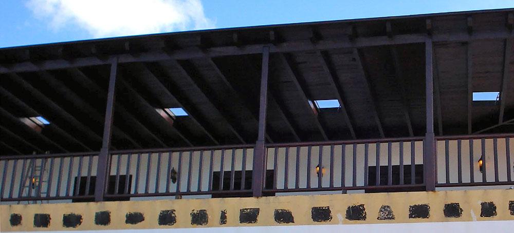 Claraboyas modelo 03, interior madera en una Pérgola (La Bodega Rubicon, Lanzarote).
