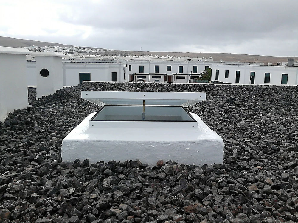Claraboya modelo 13, en un residencial (Playa Blanca, Lanzarote).